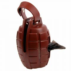 Dog waste bag dispenser brown grenade