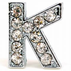 K rhinestone letter with 14 mm