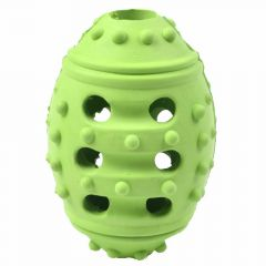 Rubber egg green with 9.5 cm and 5 cm Ø -10 years Onlinezoo dog toy special