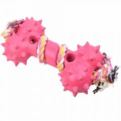 Pink rubber bones 12 cm -10 years Onlinezoo dog toy special