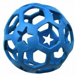 Rubber ball dog toy Boing Boing blue