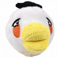 "Angry birds plush dog toy- white egg bird ""White Bird Matilda"""