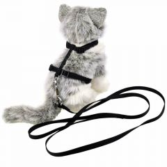 Black cat harness with leash by GogiPet