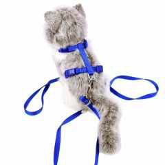GogiPet cat harness with leash blue