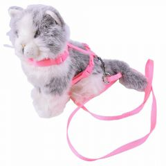 GogiPet cat harness with leash pink