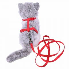 GogiPet cat harness with leash red