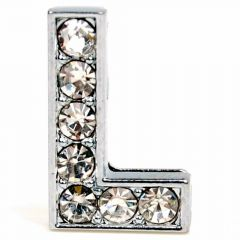 L rhinestone letter with 14 mm
