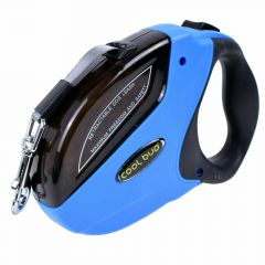 Dog leash with flexible length - Roll leash with fixing function blue 5 meters