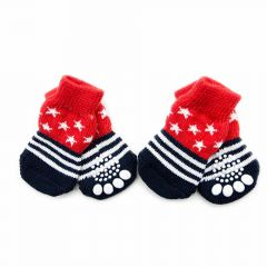 GogiPet dog socks red blue with anti-slip coating