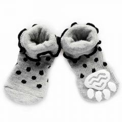 Anti-slip dog wool gaiter - gray dog socks