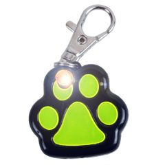 Reflective dog tag with switchable light