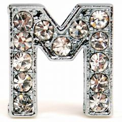 M rhinestone letter with 14 mm