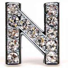 N rhinestone letter with 14 mm