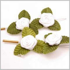 Flower hair accessories - white rose
