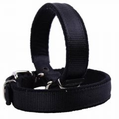 Cuddly soft dog collar lined with soft fleece