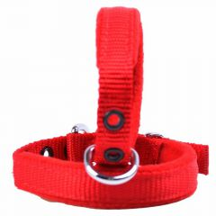 Collar red 60 cm padded with Polar fleece by GogiPet®