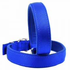 Soft blue dog collars for small dogs and large dogs