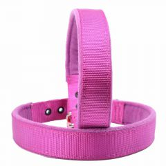 Soft purple dog collars for small dogs and large dogs