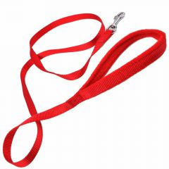 Dog leash red 1,5 x 150 cm with soft grip by GogiPet®