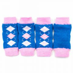 GogiPet dog leggings blue with pink diamonds