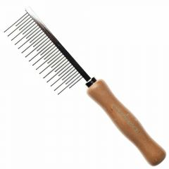 Dog comb with short and long teeth