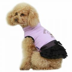 Beautiful dog dress from Bauwolle - Purple Queen