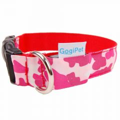 GogiPet ® LED collar Camouflage Red M