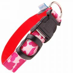 GogiPet ® LED light collar Camouflage red L