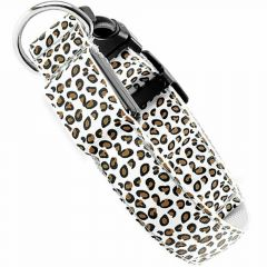 White leopard dog collar with LED light of GogiPet® XL