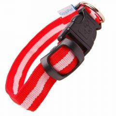 Size adjustable GogiPet ® LED collar red L