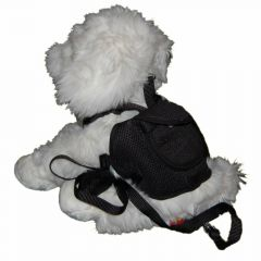 Backpack for Dogs - dog harness black in size S of GogiPet®