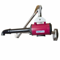 GogiPet dog dryer Poseidon red with wall arm
