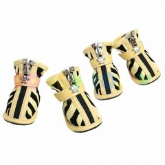 dog shoes striped yellow black