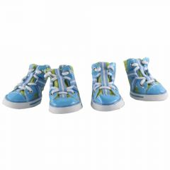dog shoes light blue 4-pack