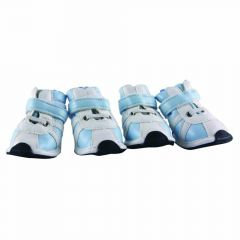 Comfortable dog shoes white light blue