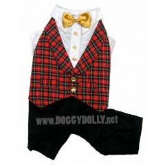 DoggyDolly dog suit tartan - DoggyDolly ST007