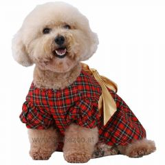 Christmas apparel for dog - elegant evening dress of DoggyDolly ST010