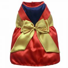 Tricolor luxury dog dress - Christmas dress by DoggyDolly ST018