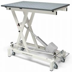 Electrically height adjustable grooming table with wheels of Stabilo with wheels 50 x 100 incl. wheels