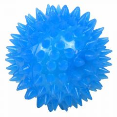 Blue sound ball with light - dog toy