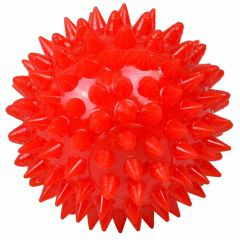 Red sound ball with light - dog toy