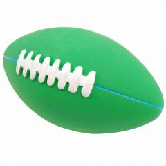 Latex dog toy with squeaker - Rugby ball for dogs