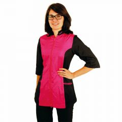 Tikima Caprezo hot pink - modern trend working clothes for dog hairdressers
