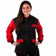 Modern dog groomer blouse - workwear