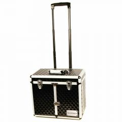 dog groomer carrying case with wheels and telescoping handle Black Diamond