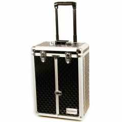 Delux dog groomer case with drawers, wheels and telescopic handle Black