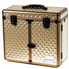 Delux pet groomer case with 3 drawers, wheels and telescoping handle Diamond Metal Gun