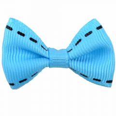 "Handmade dog bow ""Adora light blue"" by GogiPet"