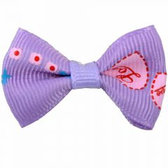 "Handmade dog bow ""Corazón purple"" by GogiPet"