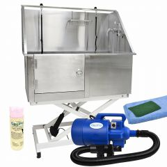 Dog Barber Supplies Set - Electric dog bath, dog drying and dog grooming products